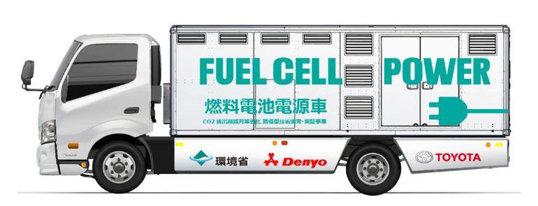 Toyota rozpoczyna testy ciężarówki-generatora na wodorowe ogniwa paliwowe