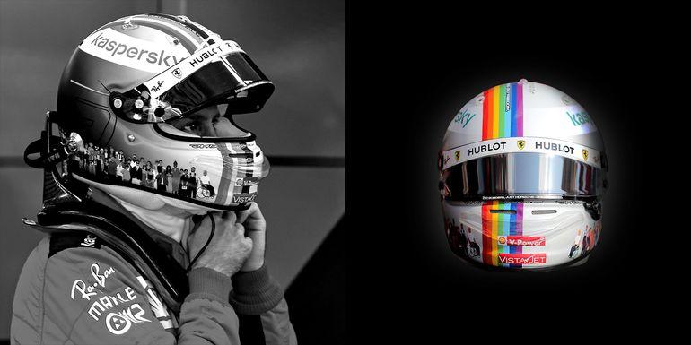 Kask Sebastiana Vettela wystawiony na aukcji charytatywnej!