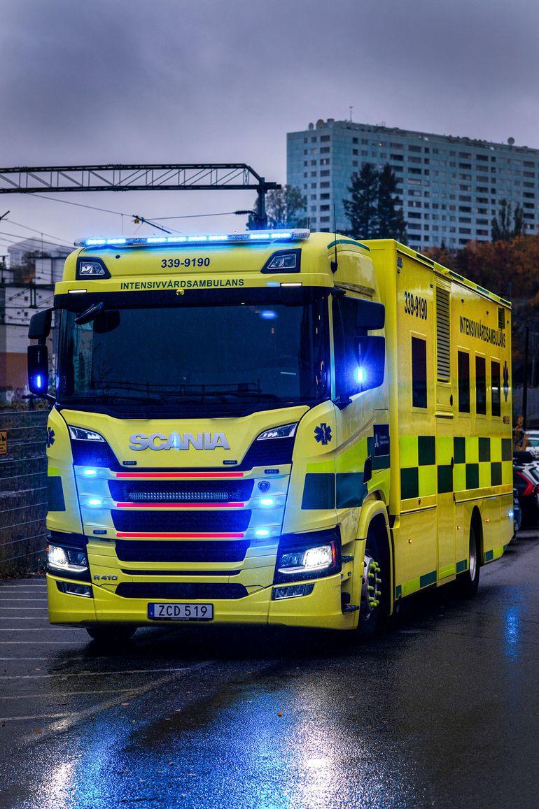 Ambulans Scania - nowa karetka intensywnej terapii w Sztokholmie