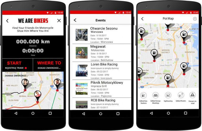 WeAreBikers- aplikacja stworzona przez motocyklistów dla motocyklistów