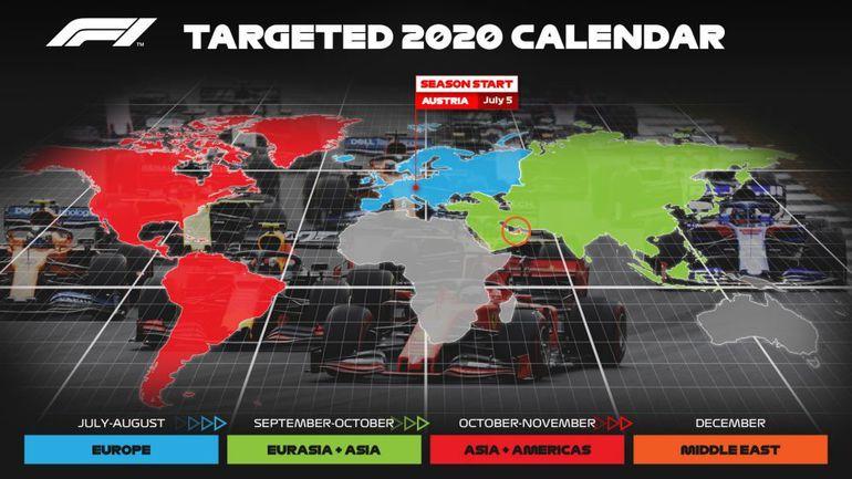 Prognozowany kalendarz F1 na sezon 2020