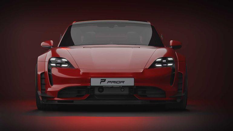 Elektryczne Porsche Taycan od Prior Design - przepis na tuning wprost z japońskiego warsztatu