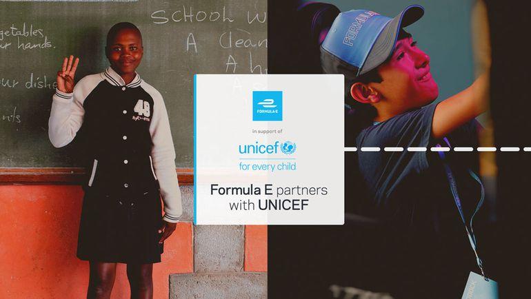 Formuła E rozpoczyna współpracę z UNICEF-em