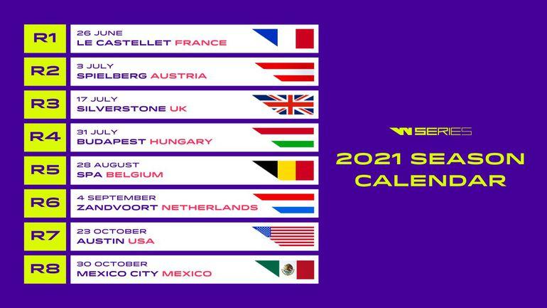 Kalendarz W Series na sezon 2021