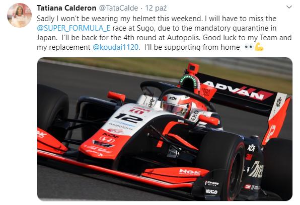 Tatiana Calderón po raz kolejny nie wystartuje w Super Formule