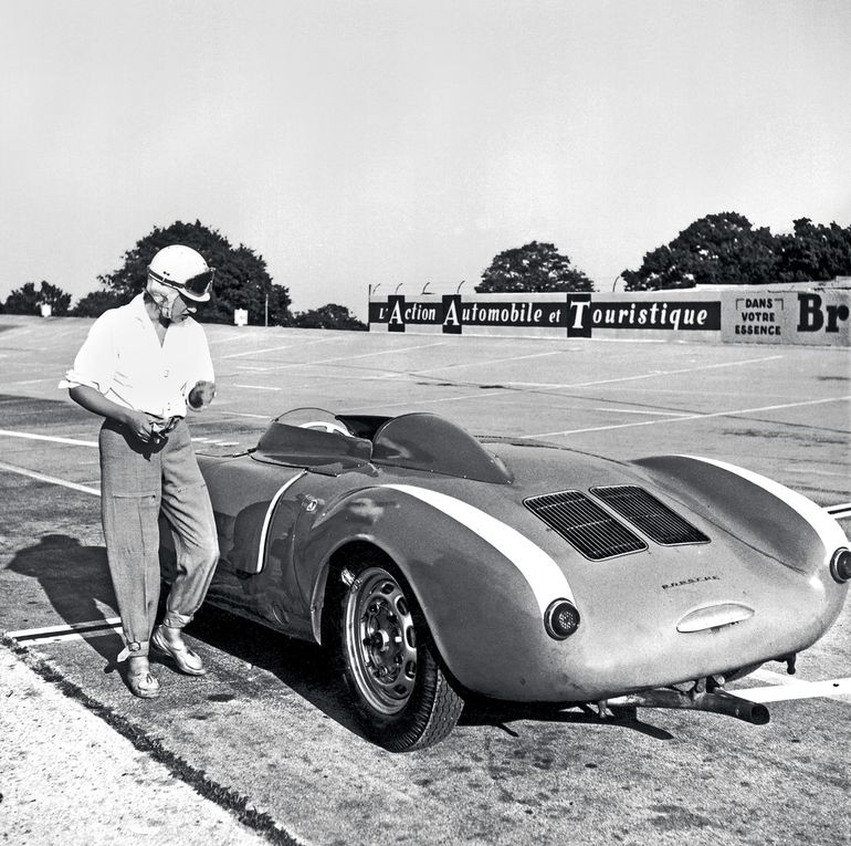 Annie Bousquet i jej Porsche 550 Spyder