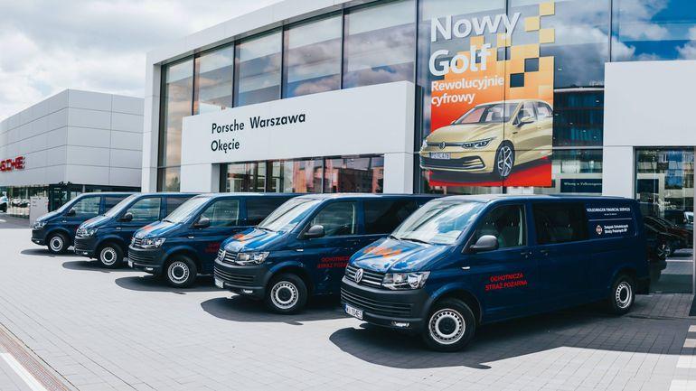 30 Volkswagenów Transporter T6 trafi do OSP w całym kraju