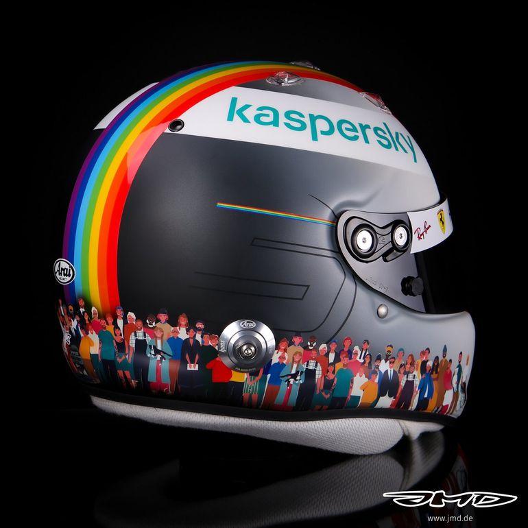 Kask Sebastiana Vettela z wyjątkowym przesłaniem na GP Turcji
