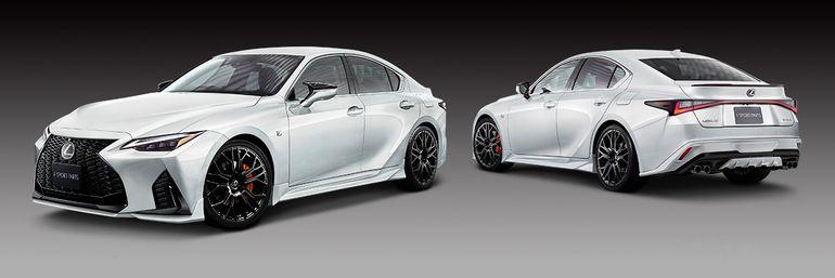 Lexus IS po tuningu TRD. Można nacieszyć oko, bo na zmiany mechaniczne nie ma co liczyć