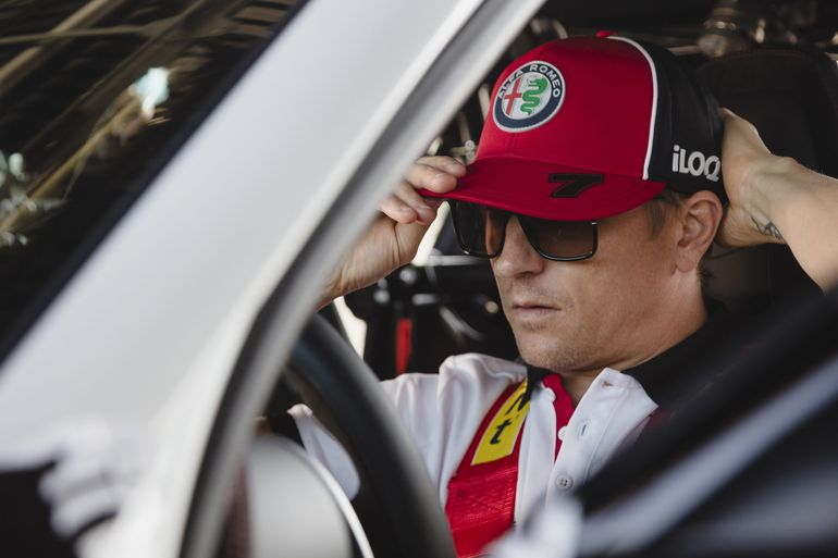 Räikkönen i Giovinazzi testują nową Giulię GTA