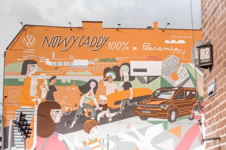 Znana ilustratorka Katarzyna Bogucka stworzyła przepiękny mural w sercu Poznania!