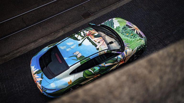 Porsche Taycan 4S - wyjątkowy art car