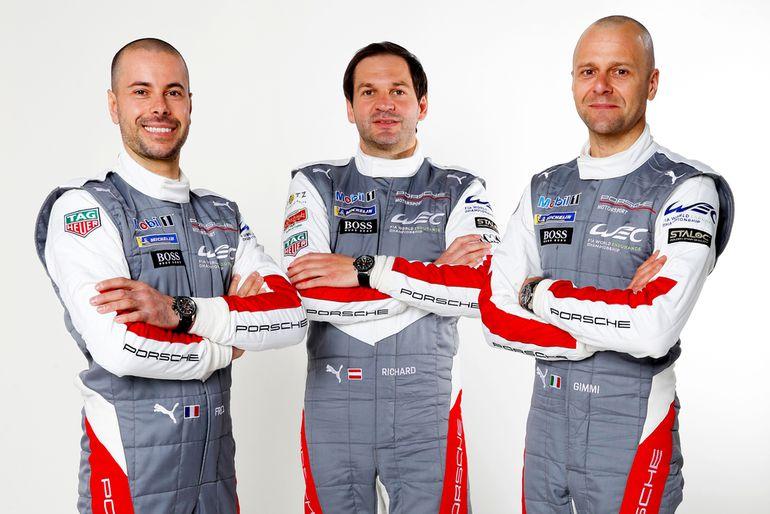 Frédéric Makowiecki (F), Richard Lietz (A), Gianmaria Bruni (I) (l-r)