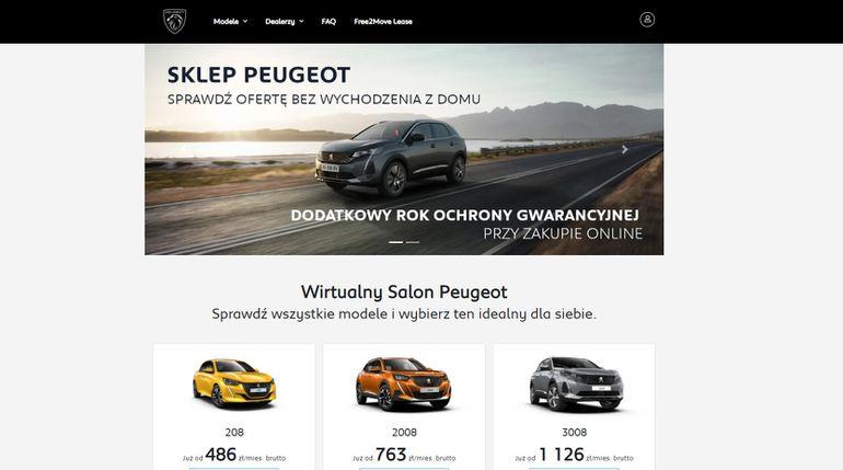 Peugeot wprowadza sprzedaż online swoich samochodów