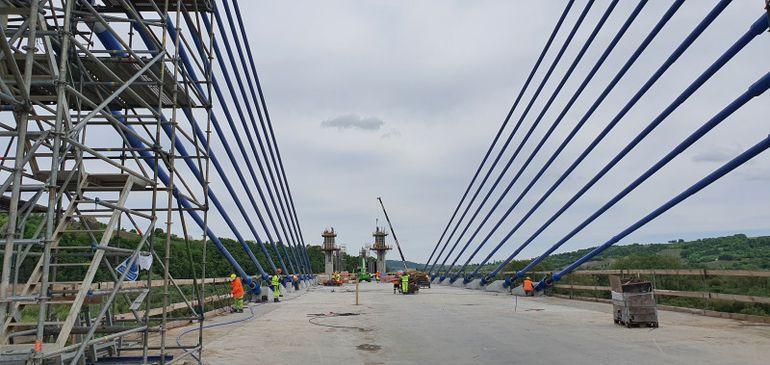 budowa mostu na Dunajcu