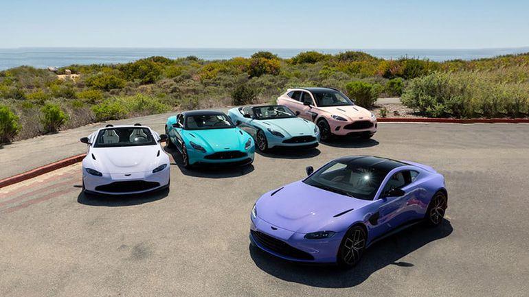 Pastelowe samochody Aston Martin