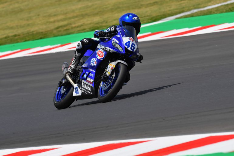 Dawid Nowak wystartował w wyścigu Yamaha bLU cRU na torze Misano