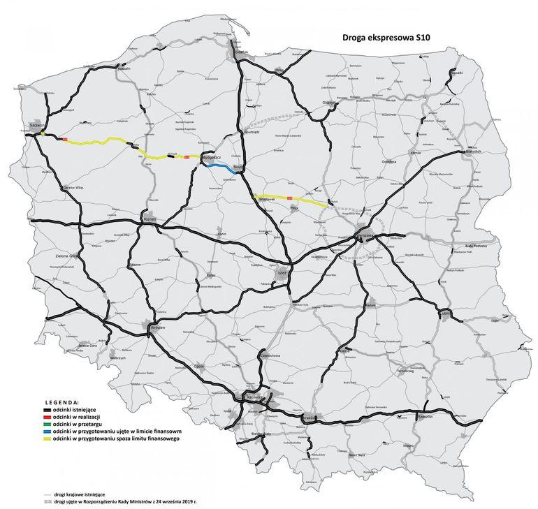 S10 - najprostsza droga ze Szczecina do Warszawy