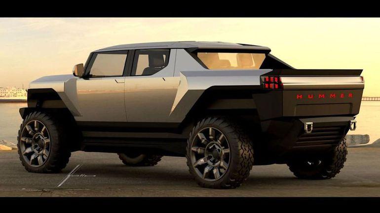GMC Hummer EV Design Sketch