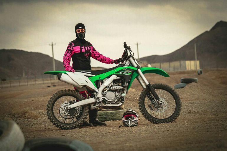 Fahimeh Nematollahi - pierwsza irańska zawodniczka, która wystartowała w Mistrzostwach Świata w Motocrossie