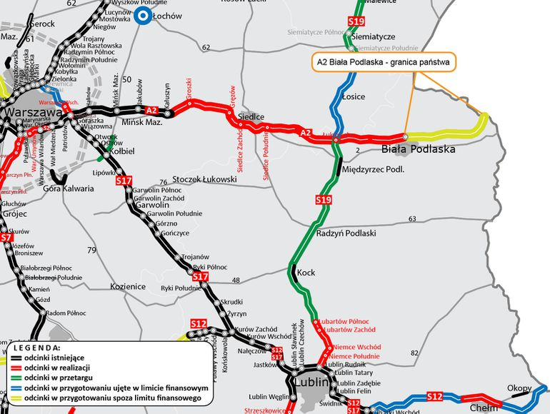 Autostrada A2 wydłuży się o 32-kilometrowy odcinek pomiędzy Białą Podlaską a granicą Polski z Białorusią