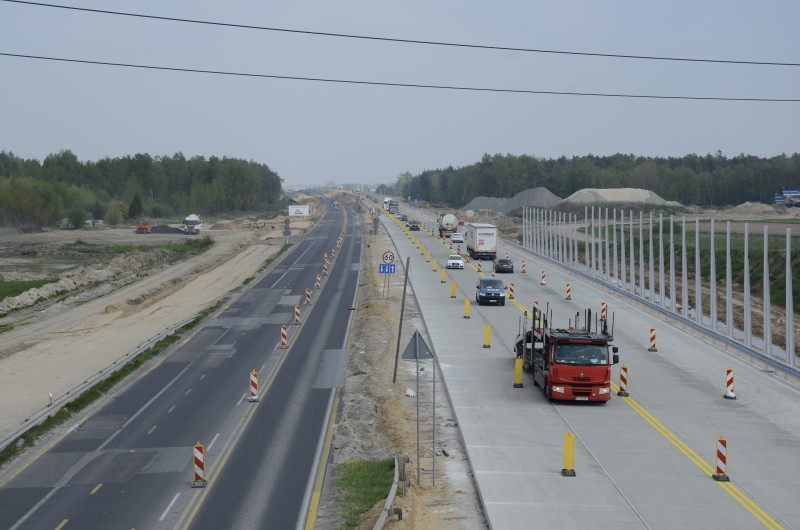 Kolejne kilometry betonowej nawierzchni na A1 udostępnione kierowcom